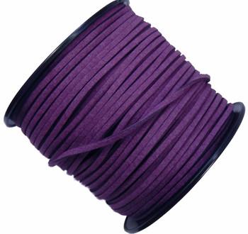 Purple Micro Fiber Faux Suede 3mm 90 Yard Spool Flat Lace Beading Craft Cord Rb-01153209-19-Spool