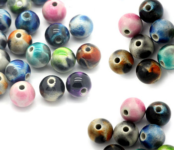 90 Random Acrylic Spacer Beads Ball At Random 12mm Rb23161