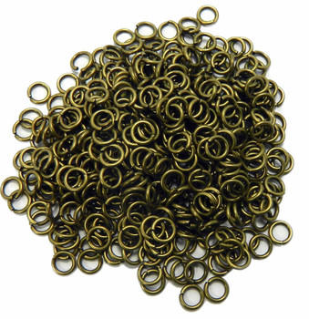 400 Jump Rings Antiqued Brass 6mm Round 18 Gauge. Slightly Pre Opened 4mm Inside Z-G-080526082921-Ag
