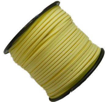 Yellow Micro Fiber Faux Suede 3mm 90 Yard Spool Flat Lace Beading Craft Cord Rb-01153209-18-Spool
