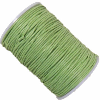 Light Green 1.5mm Waxed Cotton Jewelry Macrame Craft Cord 80 Yards Wolven Round Gt-150121184654-Ltgreen