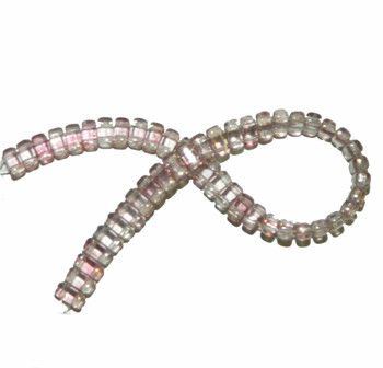 Luster Topaz/Pink Brick 3x6mm Square Glass Czech 50 Two Hole Beads Brc36-Lp00030