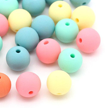 """90 Acrylic Spacer Beads Round Random Mix 9x10mm( 3/8""""),Hole:Approx 1.8mm, Rb28560"""