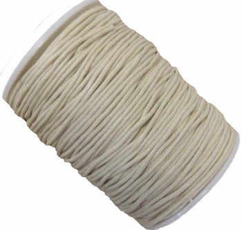 Off White 1.5mm Waxed Cotton Jewelry Macrame Craft Cord 80 Yards Wolven Round Gt-150121184654-Offwhite