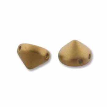 Antique Brass Metalic Matte 20 Czech Glass Tipp 2 Hole 8mm Chocolate Chip Beads Tip0829415
