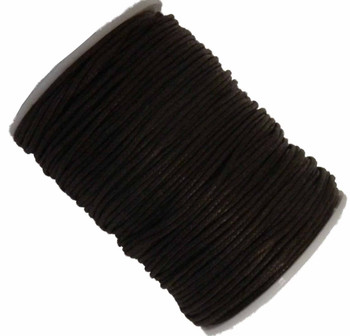 Brown 1.5mm Waxed Cotton Jewelry Macrame Craft Cord 80 Yards Wolven Round Gt-150121184654-Brown