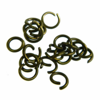 400 Strong Jump Rings Antiqued Gold Bronze Plated Steel 5.5mm Round 20 Gauge Z-G-080529063911-Ag