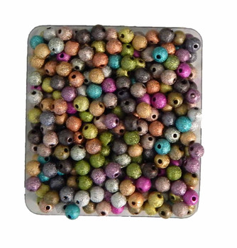 Mixed Acrylic Stardust Beads 6mm Package Of 450 Spacer Rb18079