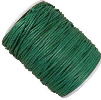 Green 1.5mm Waxed Cotton Jewelry Macrame Craft Cord 80 Yards Wolven Round Gt-150121184654-Green