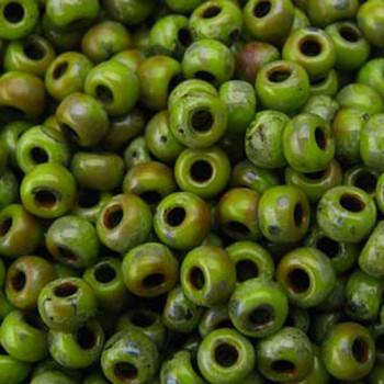 Matte Picasso Chartreuse Miyuki 8/0 Seed Bead 22 Gram 8-94515-Tb