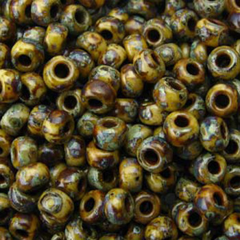 Picasso Brown Tan Matte 22 Grams Miyuki 8/0 Seed Bead 22 Gram 8-94517-Tb