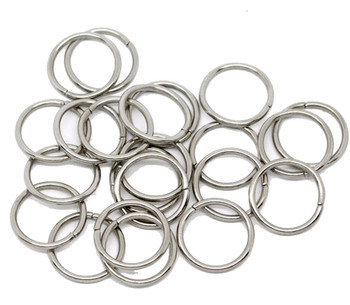 100 Nickle Plated Jump Rings 16mm Round 1.5mm Thick Jewelry Chain Links Rb10199