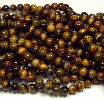 "10mm Tigereye Natural Round Beads 40Cm 15"" Stone B1-10D2"