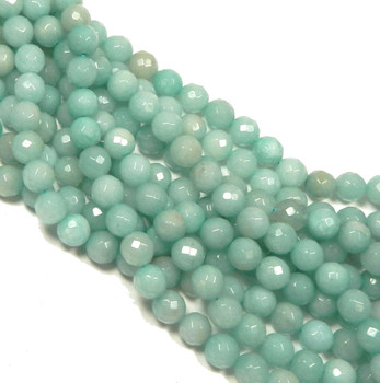 "10mm Amazonite Faceted Round Beads 40Cm 15"" Stone B1-C10D51"