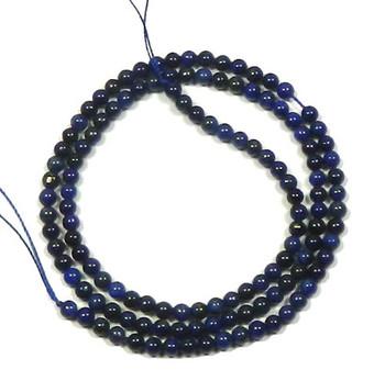 """3mm Lapis Lazuli Round Beads 40Cm 15"""" Stone B2-M300"""