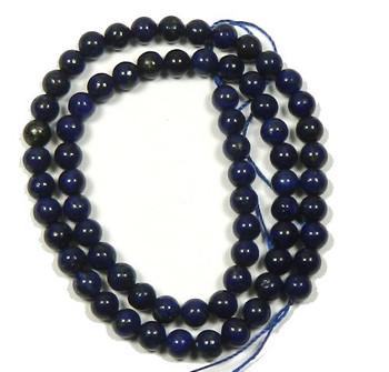 """6mm Lapis Lazuli Round Beads 40Cm 15"""" Stone B1-M302"""