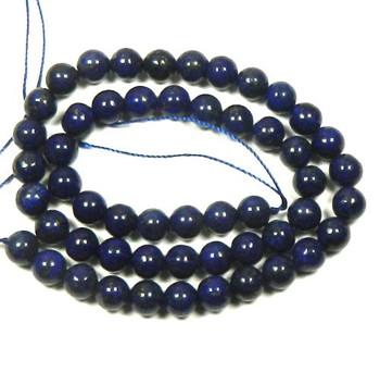 """8mm Lapis Lazuli Round Beads 40Cm 15"""" Stone B1-M303"""