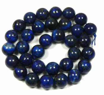 """12mm Lapis Lazuli Round Beads 40Cm 15"""" Stone B1-M305"""