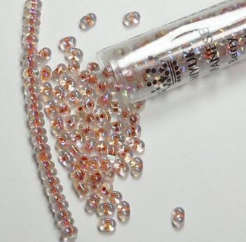 Peach Lined Crystal Ab New Miyuki Berry Bead 2.5x4.5mm Seed Bead Glass 22 Gram Bb-275-Tb