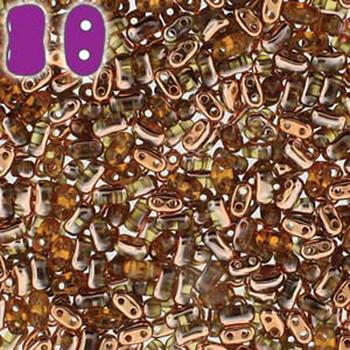 Topa Capri Gold Bi-Bo Czech Glass 2 Hole Seed Beads 5.5x2.8mm 22Gr Bo52-10060-27101-Tb