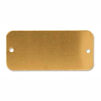 6 Brass Rectangle Metal 2 Holes Jewelry Stamping Blanks For Bracelets Msb2016