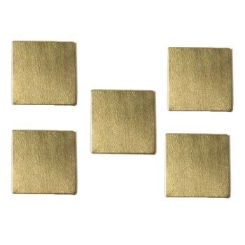 Raw Brass Square Stamping Blanks For Jewelry Design Stamps 3/4 In-24 Gauge-24 Pcs Bg Msb75Sq24