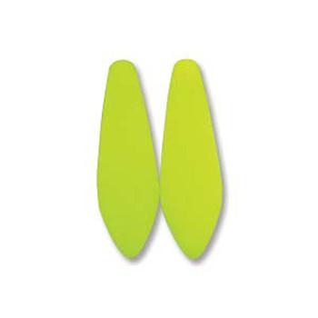 Neon Yellow 25 Czech Glass Dagger Drop Beads 5x16mm Dgr516-25121
