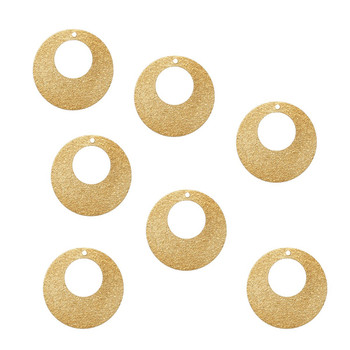 45 Brass Plated Alloy Metal Stamping Blanks Round Sparkle Dia 17mm