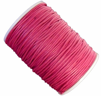 Dk Pink 1.5mm Waxed Cotton Jewelry Macrame Craft Cord 80 Yards Wolven Round Gt-150121184654-Dkpink