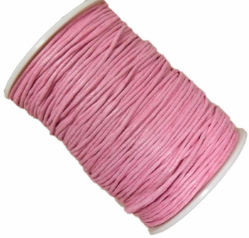 Pink 1.5mm Waxed Cotton Jewelry Macrame Craft Cord 80 Yards Wolven Round Gt-150121184654-Pink