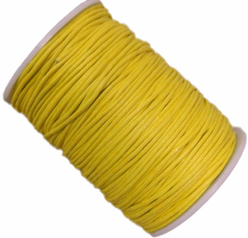 Yellow 1.5mm Waxed Cotton Jewelry Macrame Craft Cord 80 Yards Wolven Round Gt-150121184654-Yellow