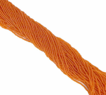 Orange Transparent Czech 11/0 Glass Seed Beads 1 Full Hank Preciosa 8111Sb