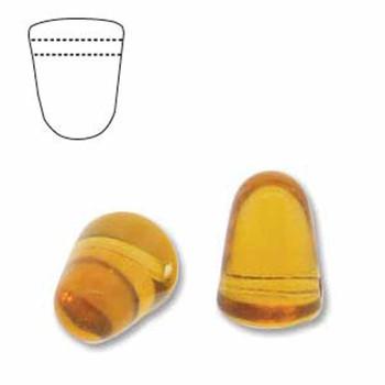 Topaz 20 Czech Glass Gumdrop Beads 7 5x10mm Gum710-10070