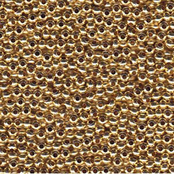 Genuine Metal Seed Beads 6/0 Gold Tone Gilding Metal 33 Grams Mt6-Glm-Tb