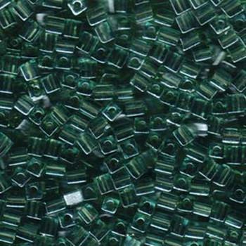 20 Grams Sea Foam Luster Miyuki 4mm Square Cube Glass Seed Beads Sb4-2445-Tb