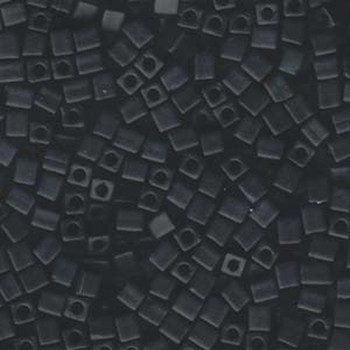 20 Grams Black Opaque Matte Miyuki 4mm Square Cube Glass Seed Beads Sb4-401F-Tb