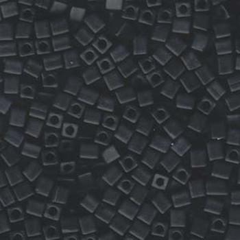 20 Grams Black Opaque Matte Miyuki 4mm Square Cube Glass Seed Beads Sb4-401F-Tb