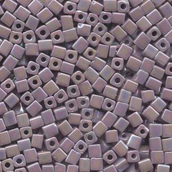 20 Grams Opaque Amethyst Rainbow Miyuki 4mm Square Cube Glass Seed Beads Sb4-410R-Tb