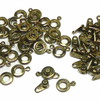 Premium Weight Ball & Socket Clasp 6mm Antiqued Gold 36 Clasps Findings Skg02Ag