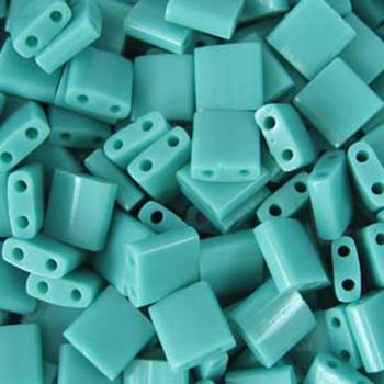 Turquoise Green Miyuki Tila Beads 7.2Gm 2 Hole Seed Bead 5x5mm Tl412-Tb