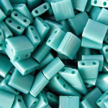 Turquoise Green Ab Matte Miyuki Tila Beads 7.2gm 2 Hole Seed Bead 5x5mm