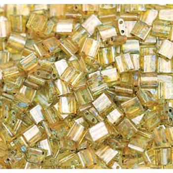 Picasso Saffron Transparant Miyuki Tila Beads 7.2Gm 2 Hole Seed Bead 5x5mm Tl4501-Tb
