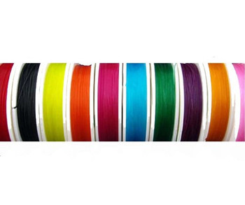 Stretch Cord Mix Floss Elastic 0.8mm Di. 10 Colors 10 Yards Each Rb01145