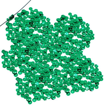 4000 Green Sequin With Paillette Sewing/Embellishment Findings 8mm Rb38432