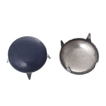 250 Spike Rivets Studs Round Silver Tone Painted Purple Grey 12mm 1/2 Inch Rb44019