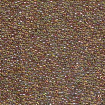 Dark Rose Lined Yellow Miyuki 11/0 rocailles glass seed beads 24 grams