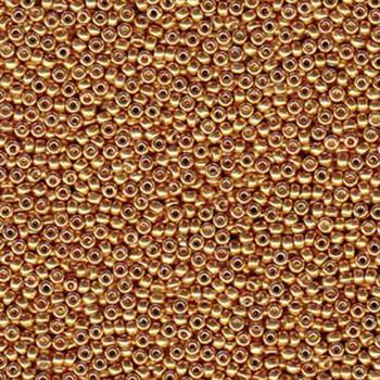 Duracoat Galvanized Yellow Gold Miyuki 11/0 Rocailles Glass Seed Beads 23-24 Grams # 4203