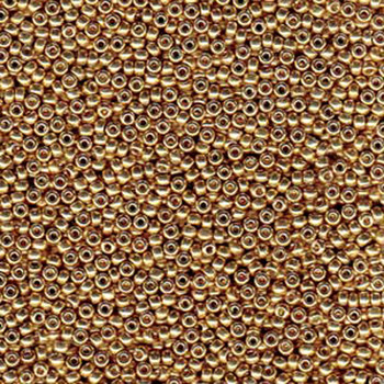 Duracoat Galvanized Champagne Miyuki 11/0 rocailles glass seed beads 24 grams