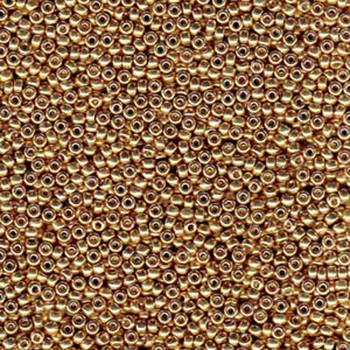 Duracoat Galvanized Champagne Miyuki 11/0 Rocailles Glass Seed Beads 23-24 Grams # 4204