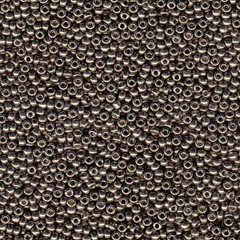 Duracoat Galvanized Pewter Miyuki 11/0 Rocailles Glass Seed Beads 23-24 Grams # 4222